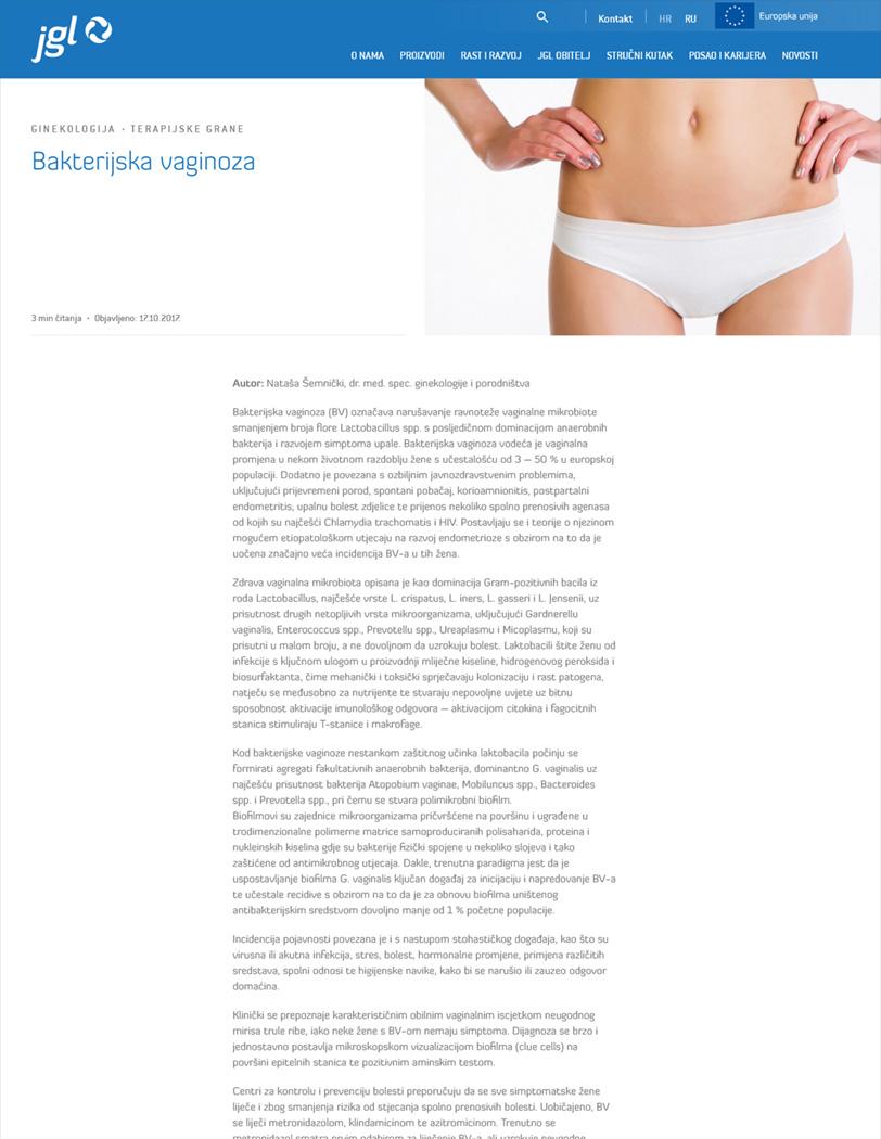 JGL - Bakterijska baginoza